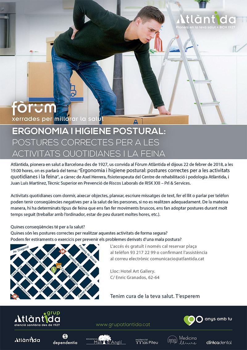 imatge cartell fòrum ergonomia