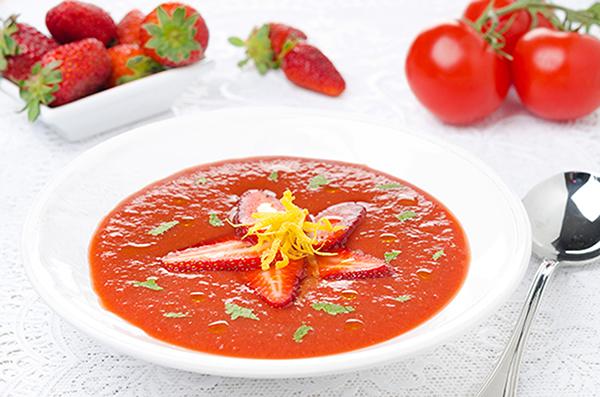 gazpacho de sandía y fresas_cenas verano