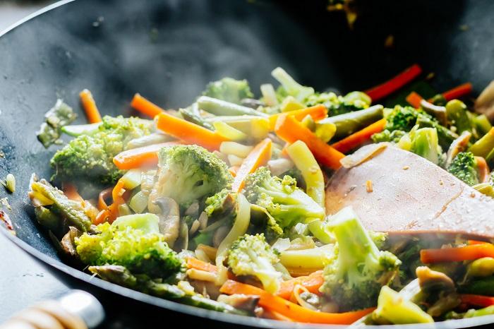 Verdures a la planxa en una dieta depurativa