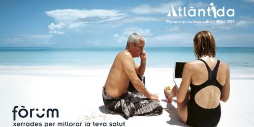 cartell Fòrum Atlàntida 'Exposició al sol i càncer de pell'