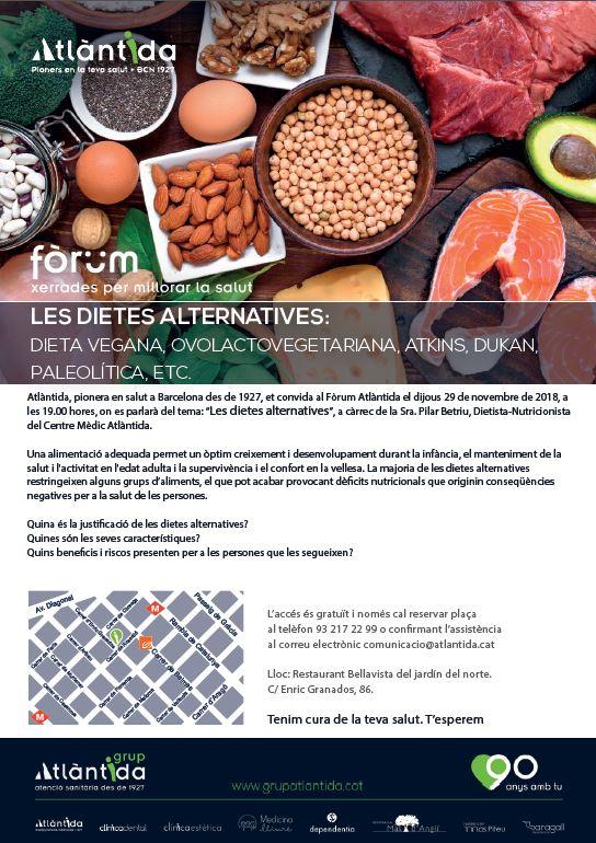 cartell fòrum Atlàntida Dietes alternatives jpeg