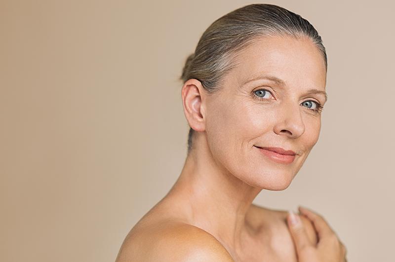 Beauty mature woman smiling